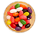 dish of jellybeans